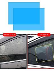 Недорогие -2 шт. Автомобильная пленка анти-дождь водоотталкивающая пленка автомобиля зеркало прозрачные оконные пленки антибликовое зеркало заднего вида анти-туман водонепроницаемая пленка