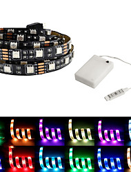 billige -5 m Fleksible LED-lysstriper / RGB-lysstriper 150 LED SMD5050 Multifarget Fest / Dekorativ / Selvklebende Batterier drevet 1set