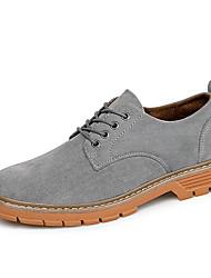 baratos -Homens Sapatos Confortáveis Couro Ecológico Outono Casual Oxfords Não escorregar Preto / Marron / Verde