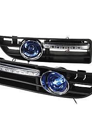 Недорогие -2x противотуманная фара 4led для VW Golf Jetta Bora MK4 99-04 решетка радиатора синий жгут