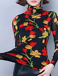 billige -Skjorte Dame - Blomstret, Trykt mønster Vintage / Elegant Oransje