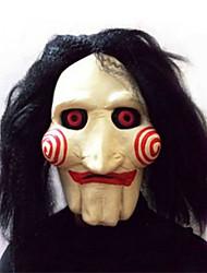 Недорогие -хэллоуин карнавальные принадлежности / пила / производительность пила латексная маска для головы парик