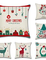 Недорогие -мультфильм рождественские наволочки наволочки горячие продажи Санта-Клаус олень подушка