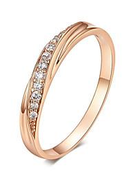 Недорогие -кубического циркония обручальные кольца серебро / розовое золото цвет обручальное кольцо ювелирные изделия оптом