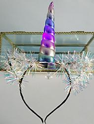 Недорогие -1 шт русалка девушка с днем рождения украшение партии цветок тюль повязка на голову под морскую вечеринку подарок