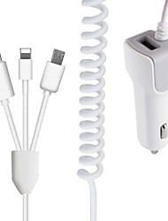 Недорогие -3 в 1 24 V 1 USB-порт безопасности много портов автомобильное зарядное устройство