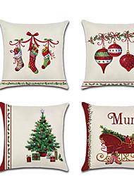お買い得  -クリスマス枕カバークリスマスソックスベルソファツリーホーム家具クッションカバークッションカバー