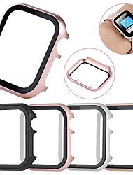Недорогие -Защитный футляр из закаленного стекла для Apple Watch 40мм / 44мм / 38мм / 42мм с металлическим корпусом для серии Apple Watch 4/3/2/1