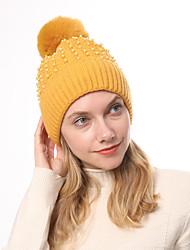 Недорогие -Жен. Классический Широкополая шляпа Акрил,Однотонный Зима Черный Винный Белый