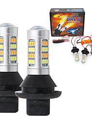 billige -2stk p21w 1156 ba15s py21w bau15s s25 42led t20 w21w wy21w 7440 lett kjøretur lightturn signal dual mode drl led eksterne lys