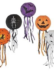 Недорогие -Бумажные фонарики хэллоуин с кисточкой стены дома висит маскарадный фонарь для партии фестиваль украшения