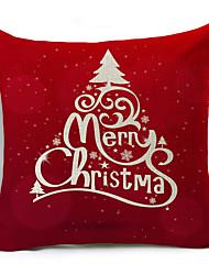 お買い得  -1ピースリネン枕カバー休日クリスマススロー枕ケース