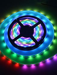 billige -5m fleksible led lysstrimler / rgb stripelys 150 lys smd5050 1 x 12v 2a adapter multi farge vanntett / nytt design / bryllup 12 v / på farge blinker automatisk / 1 sett