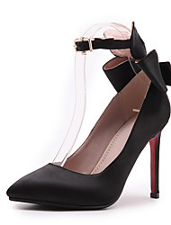 cheap -Women's Heels Stiletto Heel Pointed Toe PU Classic / British Spring &  Fall Black / Red / Wedding / Party & Evening