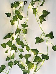 Недорогие -2 м искусственные растения светодиодные строки свет лианы зеленый лист плюща лозы для дома свадебный декор лампы поделки подвесной сад двор освещение приходят без батареи)