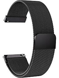 Недорогие -Ремешок для часов для Gear S3 Frontier / Gear S3 Classic / Мото 360 Samsung Galaxy / Huawei / Motorola Миланский ремешок Нержавеющая сталь / Материал Повязка на запястье