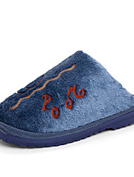 Недорогие -Муж. Комфортная обувь Искусственный мех Наступила зима На каждый день Тапочки и Шлепанцы Сохраняет тепло Коричневый / Синий