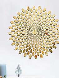 Недорогие -Декоративные наклейки на стены - Зеркальные стикеры 3D Спальня / Столовая