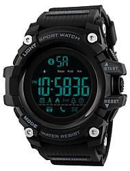 Недорогие -SKMEI Муж. Спортивные часы электронные часы Цифровой силиконовый Черный / Синий / Красный 30 m Защита от влаги Bluetooth Календарь Цифровой На каждый день Мода - Зеленый Синий Хаки / Один год