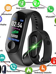 Недорогие -m3 smart sports bracelet fitness tracker с пульсометром bluetooth водонепроницаемый шагомер для android ios