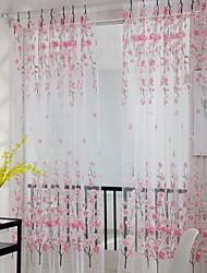 Недорогие -Цветы Прозрачный 1 панель Прозрачный Девочки   Curtains