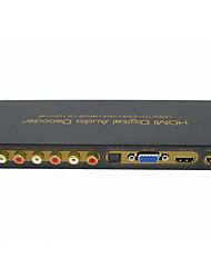Недорогие -HDMI к HDMI VGA SPDIF 5.1-канальный RCA цифровой многоканальный аудио декодеры HDMI цифровой аудио декодер