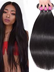 Недорогие -3 Связки Вьетнамские волосы Прямой Натуральные волосы Пучок волос Накладки из натуральных волос 8-28 дюймовый Естественный цвет Ткет человеческих волос Удлинитель Лучшее качество Cool / 8A