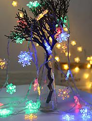 Недорогие -2 м гирлянды 10 светодиодов el теплый белый / RGB / свадьба / рождество свадебные украшения праздничные атрибуты снежинка веревка свет гирлянды украшения елка украшения для дома зима снег аа на