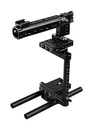 Недорогие -Клетка для камеры camvate dslr с 2 крепежами для обуви и двойными стержнями для Canon Nikon Sony Panasonic C1920