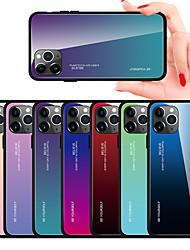 Недорогие -Чехол с градиентным закаленным стеклом для iphone 11 pro max / iphone 11 pro / iphone 11 / xs max xr xs x 8 плюс 8 7 плюс 7 6 плюс 6 чехлов для телефонов силиконовый мягкий тпу защитный чехол