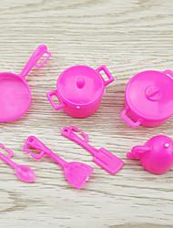 Недорогие -куклы аксессуары, кухонный набор инструментов кухонные принадлежности для приготовления пищи в каждой семье игрушечный кухня девочка семь