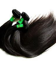 """Недорогие -3 Связки Индийские волосы Прямой Не подвергавшиеся окрашиванию Необработанные натуральные волосы Человека ткет Волосы 10""""~28"""" Нейтральный Ткет человеческих волос"""