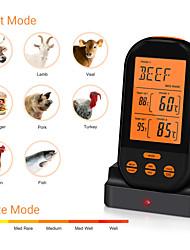 Недорогие -термометр двойной иглы с питанием от батареи беспроводной прочный барбекю термометр для мяса измерения температуры домашней кухни