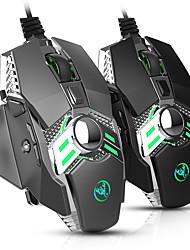 billige -KUPENG J200 USB-kabel Optisk Gaming Mus / ergonomisk mus RGB Breathing Light 800/1600/2400/3200/4800/6400 dpi 6 justerbare DPI nivåer 7 pcs Keys 7 programmerbare nøkler