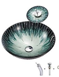 Недорогие -Boweiya завод оптовая продажа современный минималистский круглый умывальник из закаленного стекла с водопадом кран поддержки бассейна водонагреватель bwy19-169