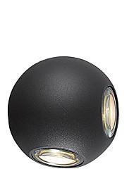 Недорогие -коридор отеля круглый шар 12w четырехсторонний декоративный настенный светильник