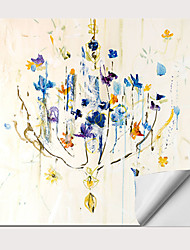 Недорогие -С картинкой Роликовые холсты - Абстракция Натюрморт Modern Репродукции