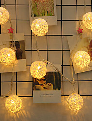 Недорогие -Кружевной шар формы лампы строка 4 м 20led лампы хэллоуин украшения фестиваль украшения аа батареи питания 1 шт.