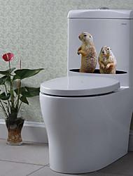 billige -søte dyr toalett klistremerker - dyr vegg klistremerker dyr stue / soverom / kjøkken