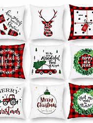 Недорогие -Рождественский венок олень подарок сумка наволочка цифровая печать наволочка кондиционер наволочка