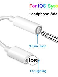 Недорогие -для ios syetem адаптер для наушников для iphone 7 8 аудио адаптер Aux для молнии до 3,5 мм адаптер для наушников кабель