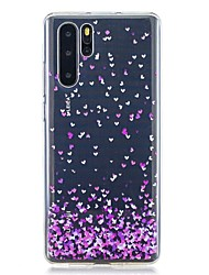 Недорогие -Кейс для Назначение Huawei Huawei P30 / Huawei P30 Pro / Huawei P30 Lite С узором Кейс на заднюю панель С сердцем ТПУ