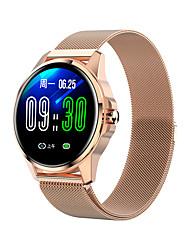 billige -r23 smartwatch rustfritt stål bt fitness tracker støtte varsle / blodtrykk måling sports smart watch kompatibel samsung / iphone / android telefoner