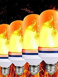 Недорогие -Светодиодная лампа пламени e27 99led лампочка эффект пламени огонь лампы мерцание эмуляции декор светодиодная лампа ac85-265v