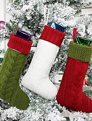 Недорогие -Подарочная сумка елочные украшения висячие дерево шерсть вязание носки сумка для дома шерсть