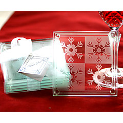 Snowflake Coasters(set of 2) Coaster Favors Wedding Party Chic & Modern