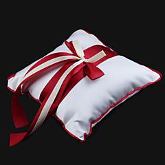 cheap Wedding Ceremony-Ribbons Satin Rayon Ring Pillow Garden Theme Winter Spring Summer Fall