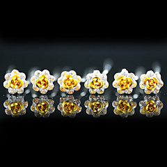 cheap Hair Jewelry-Headpieces Wedding Head Pins 6 pieces Gorgeous Rhinestones / Flowers More Colors Available