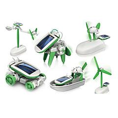 Χαμηλού Κόστους Ρομπότ-6 In 1 Ρομπότ / Παιχνίδια αυτοκίνητα / Παιχνίδια ηλιακής τροφοδότησης Ηλιακή Τροφοδότηση Πλαστική ύλη / ABS Αγορίστικα / Κοριτσίστικα Δώρο