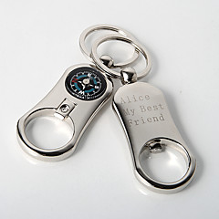 Personalized Key Ring – Camper's Compass (Set of 4)